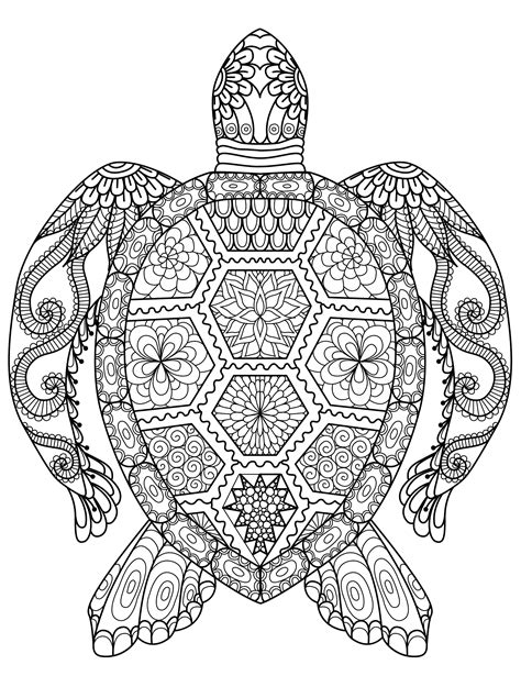 Galerry animal coloring page adults