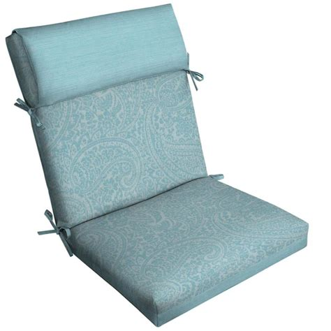 Shop Allen Roth Paisley High Back Patio Chair Cushion High Back Patio Chair Cushions