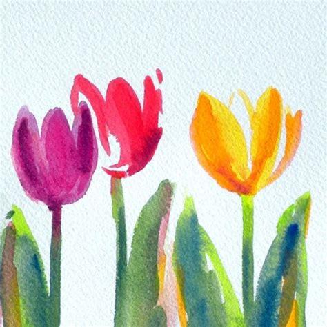 easy watercolor paintings flowers simple and sweet original watercolor painting just in