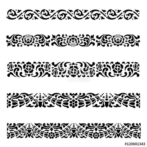 pattern lines border quot line border pattern asian traditional art design vector