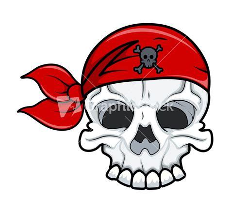 tattoo pirate cartoon pirate skull tattoo vector cartoon illustration stock image