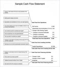 statement of flows template excel sle flow statement 8 documents in pdf word