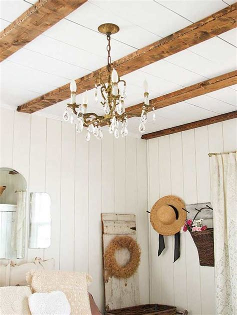 Reclaimed Wood Shiplap Wood Beams Beams And Room Makeovers On