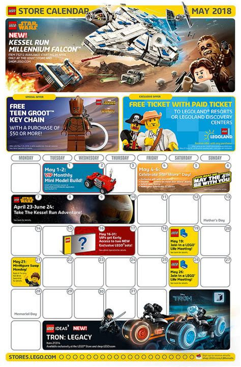 lego may 2018 store calendar promotions events the