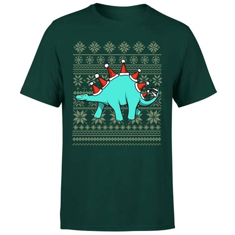 T Shirt Santa Syndicate Green Limited stegosantahats t shirt forest green pop in a box uk