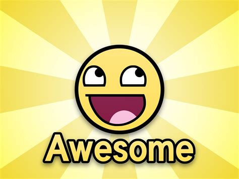 Smiley Meme - the awesome smiley awesome beams cool cute face meme