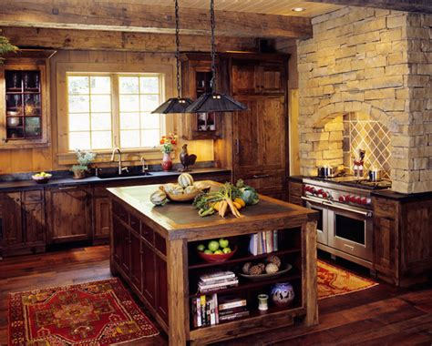 Idea For Small Kitchen by Mountain Cabin Traditional Kitchen Other Metro By