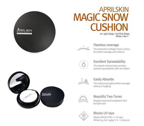 April Skin Magic Cushion Black 2 0 april skin magic snow cushion 2 0 black 23 beige
