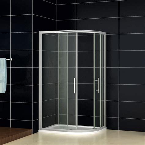 Shower Trays And Doors 900x760mm Quadrant Shower Enclosure Corner Cubicle Door