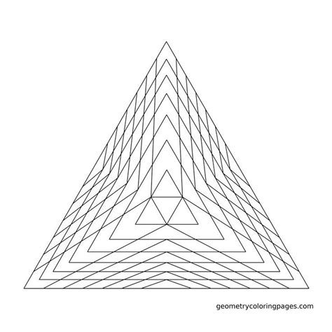 Geometry Coloring Page Pyramid Sacred Geometry Sacred Geometry Coloring Pages