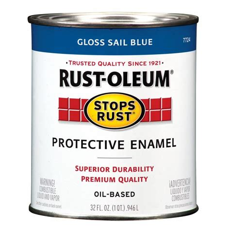 best exterior based paint shop rust oleum stops rust sail blue gloss based
