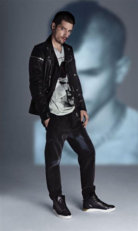 Diesel 7758 Grey Black Leather diesel s apparel black shirt grey leather