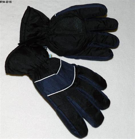 Rugged Wear Gloves by Rw Rugged Wear Mens Ski Gloves Black Large Nwt Gloves