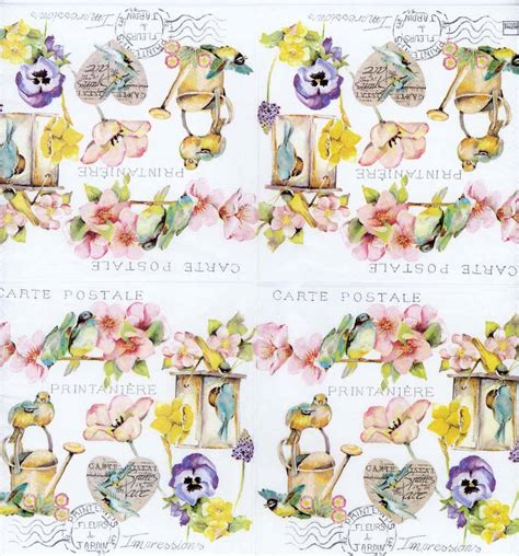 Napkin Decoupage Shop - decoupage napkins of watercolor of garden with