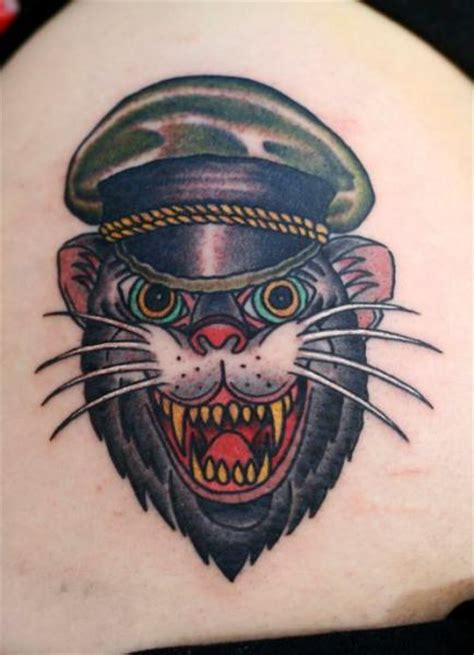 Old School Cat Tattoo By Zoi Tattoo School Cat Tattoos