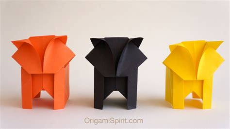 Origami Cat Box - a origami cat it s a box version 1 of 2