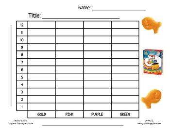 printable goldfish graph goldfish graphing activity tally chart bar graph