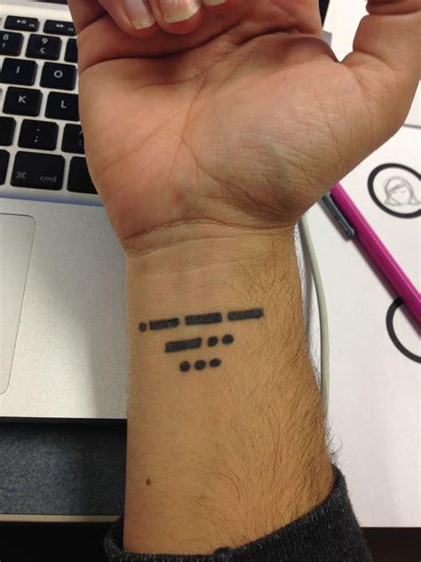 morse code tattoos morse code