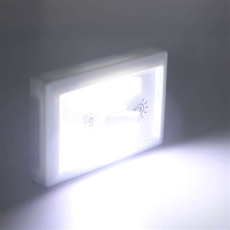 battery operated light switch 1x 3w cob led wall switch wireless closet cordless