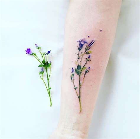 realistic flower tattoo 50 enchanting flower tattoos for fall tattooblend