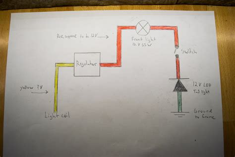 wiring  headlight   tail light  lifan cc pit