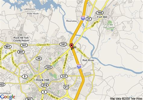 rock hill carolina map map of howard johnson inn rock hill rock hill