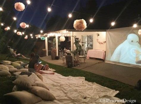 backyard movie 25 best ideas about outdoor movie party on pinterest