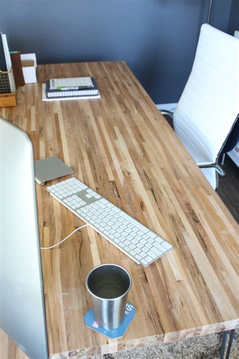 butcher block table top diy diy butcher block desk modish