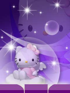 wallpaper hello kitty ungu themes hello kitty untuk sony erricson c510 g705 free