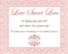 Candy Buffet Table Signs What Did You Are You Using As A Sign For Your Candy Buffet