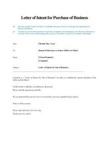 letter of intent to purchase template business purchase letter of intent the best letter sle