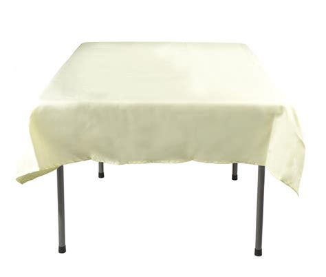 cheap tablecloth polyester cover with ivory color