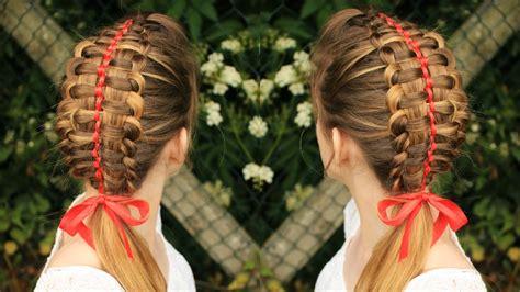 zipper braid  ribbon braidsandstyles youtube