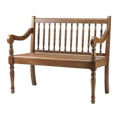 Home Decorators Bench by Home Decorators Collection Oak 40 In W Heritage Bench 1047910950 The Home Depot