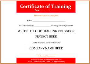 Training Certificate Template Gallery For Gt Certificate Of Training Templates