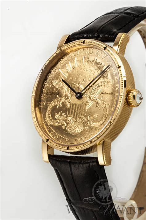 sold listing corum 20 coin automatic movement