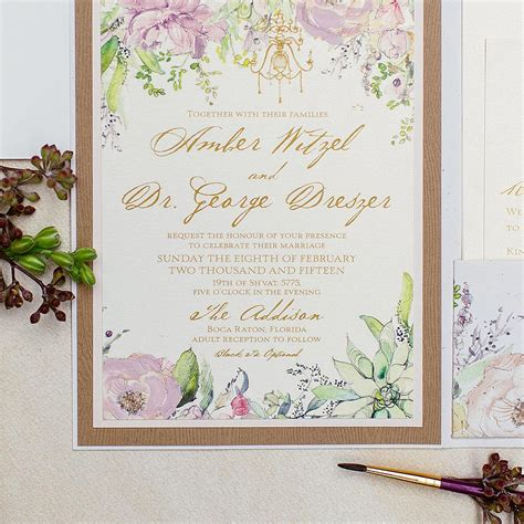 a wedding invitation 2016 2016 trends big floral wedding invites are back