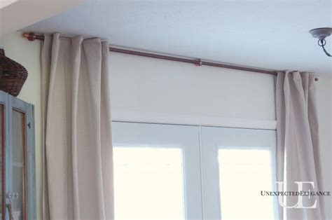 diy curtains without rods diy copper curtain rod for my french doors diy curtain