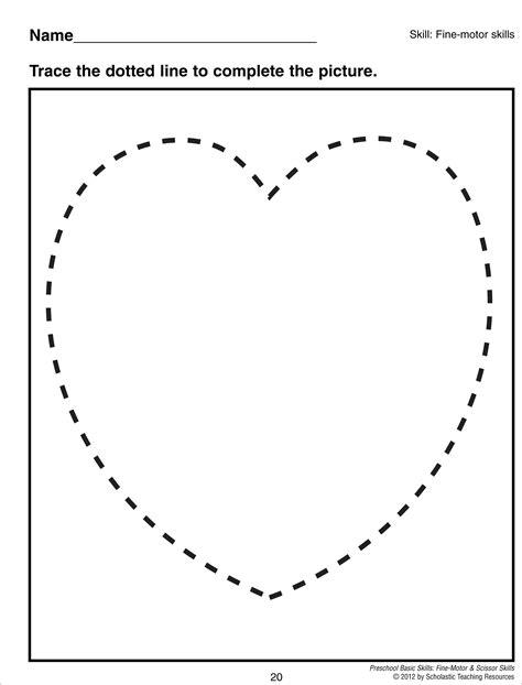 10 best images of rectangle preschool worksheets heart