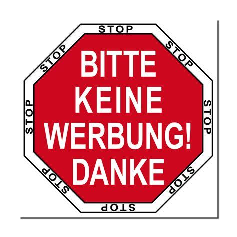Aufkleber Kaufen Keine Werbung by Briefkasten 5cm Aufkleber Sticker Stop Bitte Keine Werbung