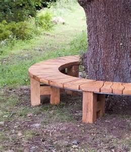 Curved Sit Up Bench Curved Bench Oak Tree Seat Garden Furniture Garden