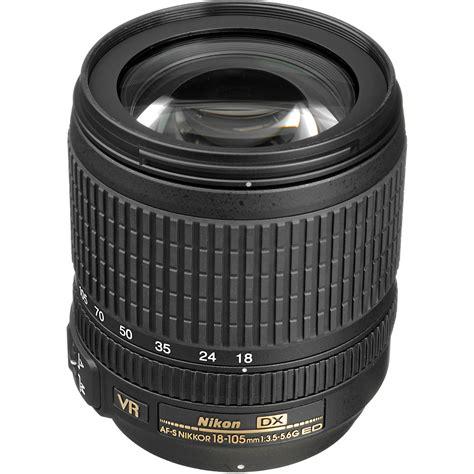 nikon af s dx nikkor 18 105mm f 3 5 5 6g ed vr lens 2179 b h