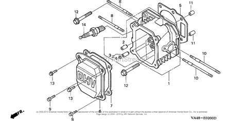 honda lawn mower engine diagram honda hrc215 pxa lawn mower usa vin mzau 6000001 to