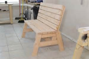 Plans For Picnic Tables And Benches by How To Build A Comfortable 2 215 4 Bench And Side Table Jays Custom Creations