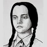 Wednesday Addams Drawing   1024 x 1196 jpeg 269kB