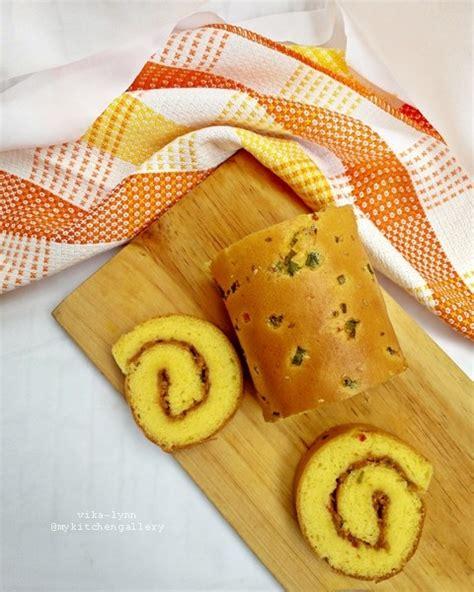 lynns kitchen chicken floss roll cake bolu gulung abon