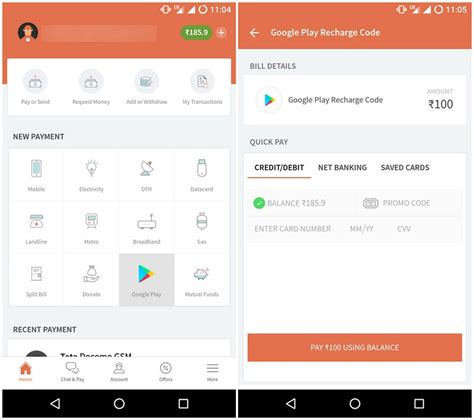 Play Store Recharge How To Recharge Play Using Paytm And Freecharge