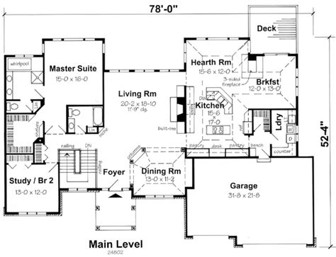Modern Ranch Floor Plans by Contemporary Ranch House Plans House Design Plans