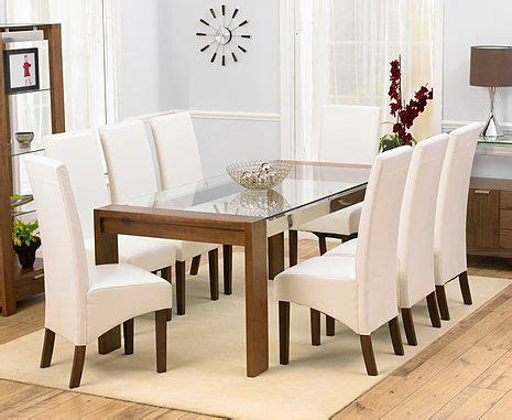 the glass room new rochelle rochelle walnut glass dining table 200cm 8 marcello ivory dining chairs glass dining