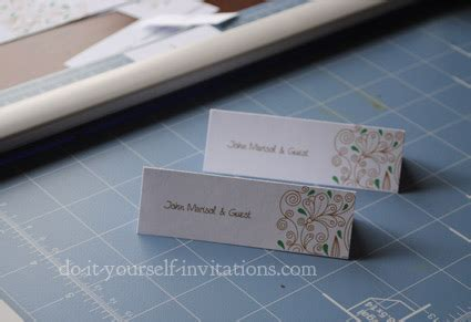 do it yourself place cards templates invitation template and diy invitations how to